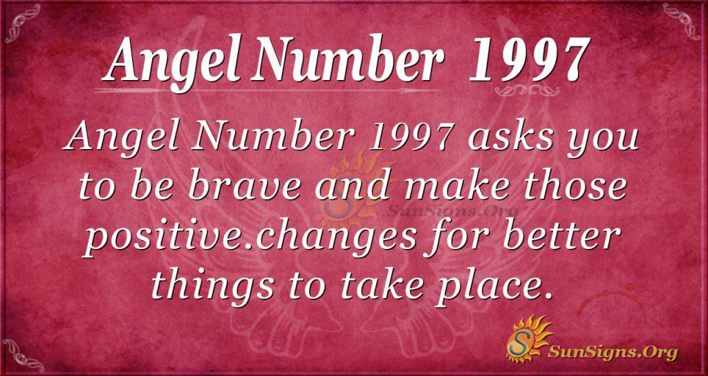 Angel Number 1997