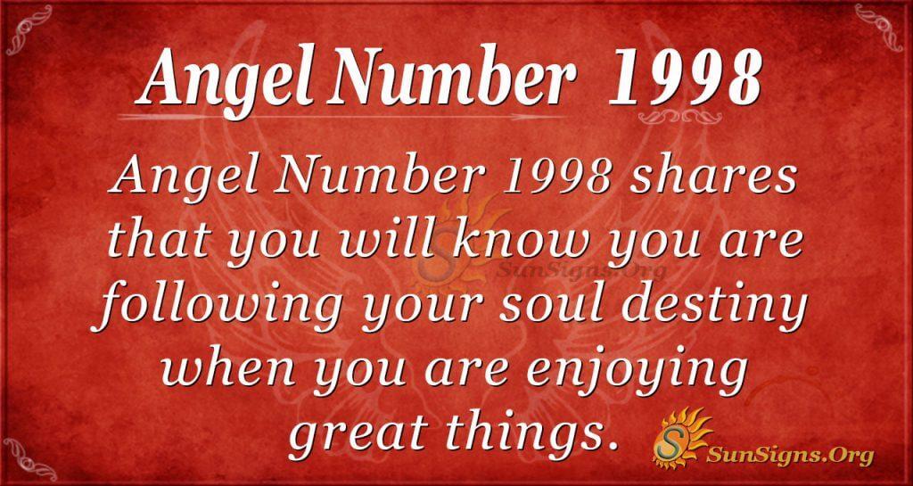 Angel number1998