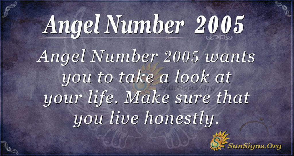 Angel Number 2005