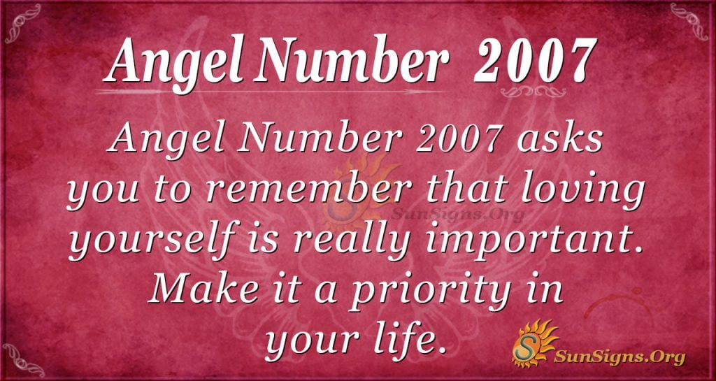 Angel Number 2007