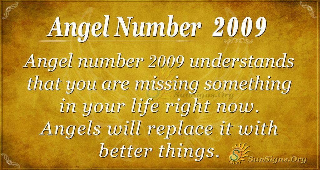 Angel Number 2009