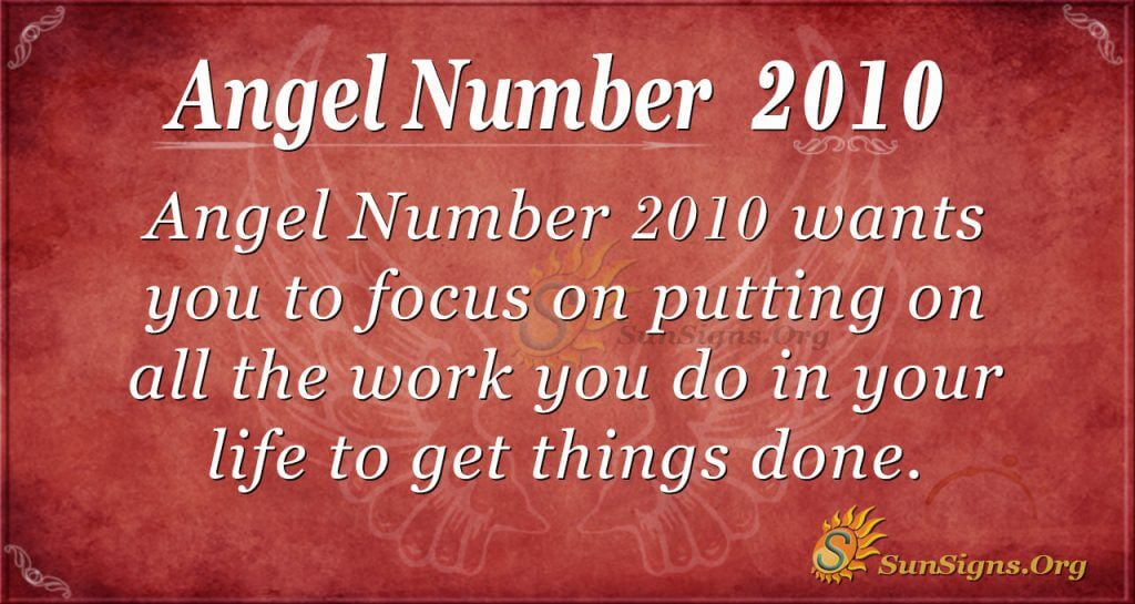 Angel Number 2010
