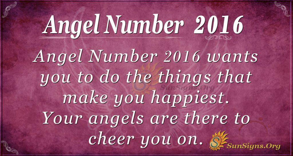 Angel Number2016