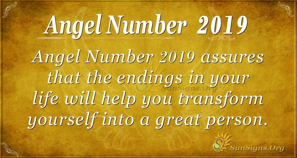 Angel Number 2019