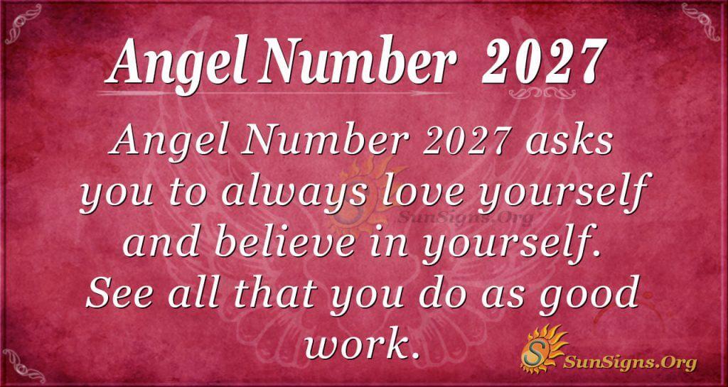Angel number 2027
