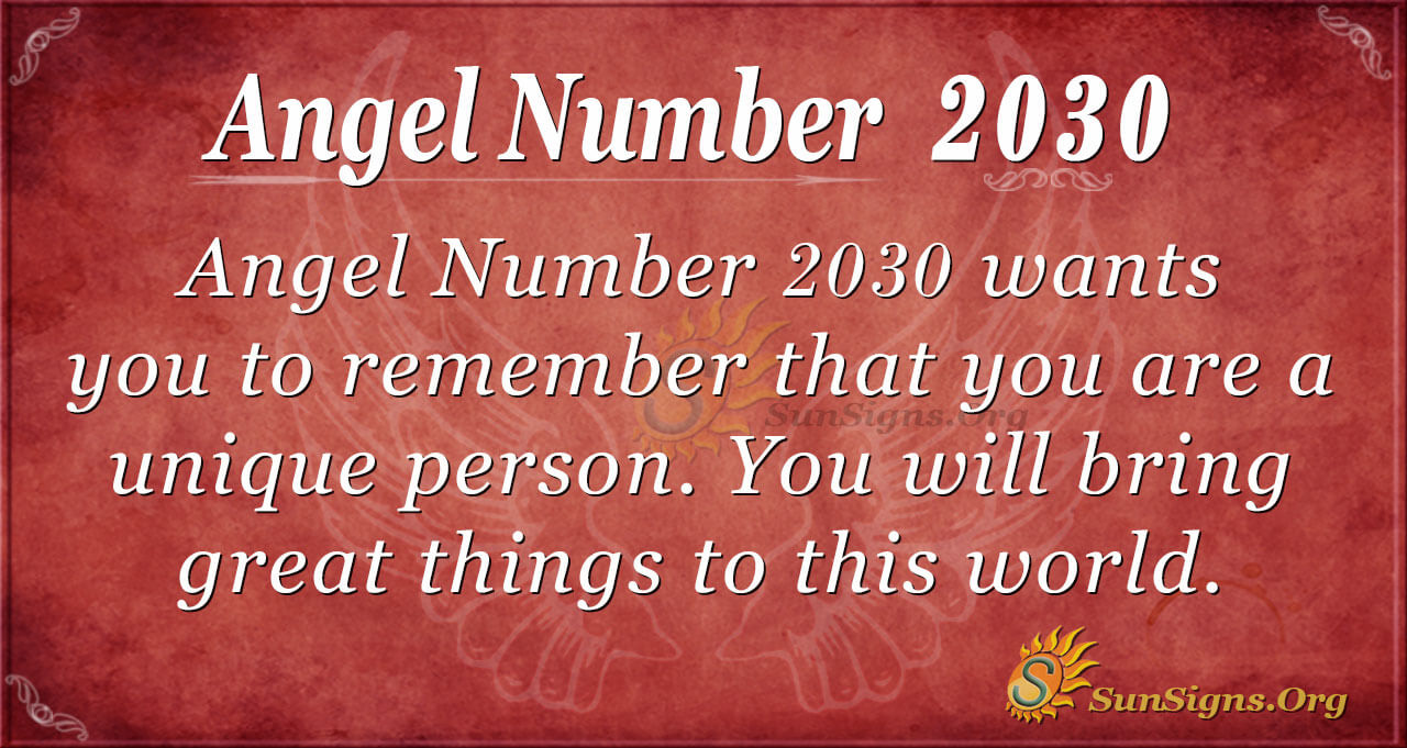 Angel Number 2030 Meaning