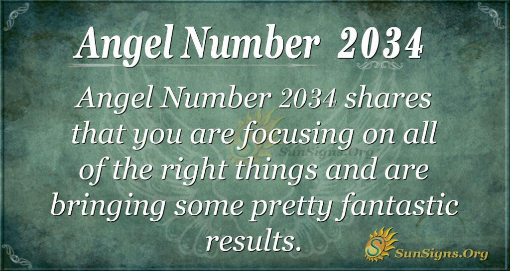 Angel Number 2034