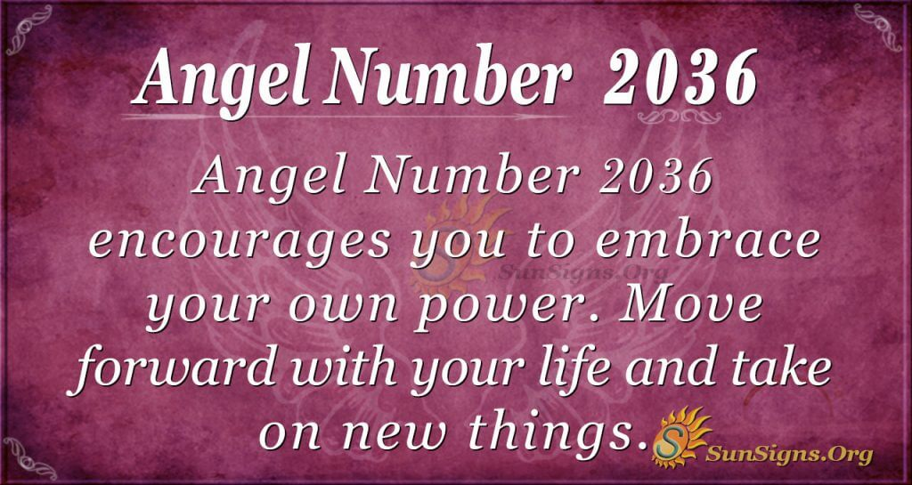Angel Number 2036