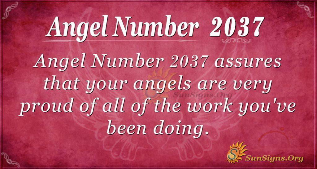 Angel Number 2037