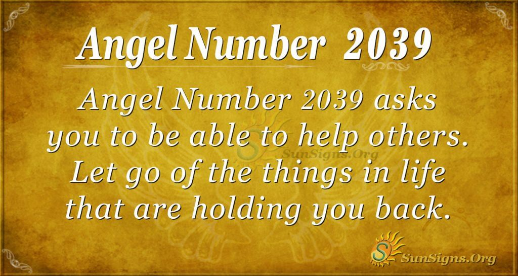 Angel number 2039
