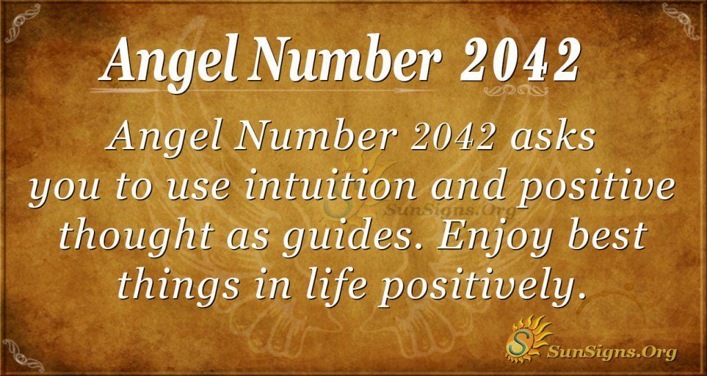 Angel Number 2042