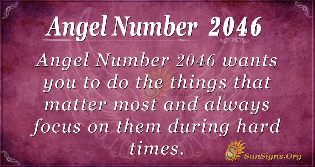 Angel Number 2046