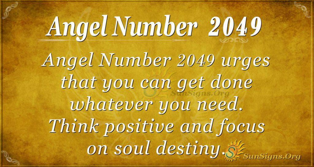 Angel number 2049