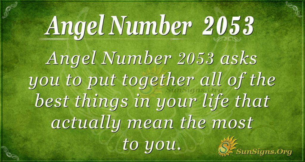 Angel Number 2053