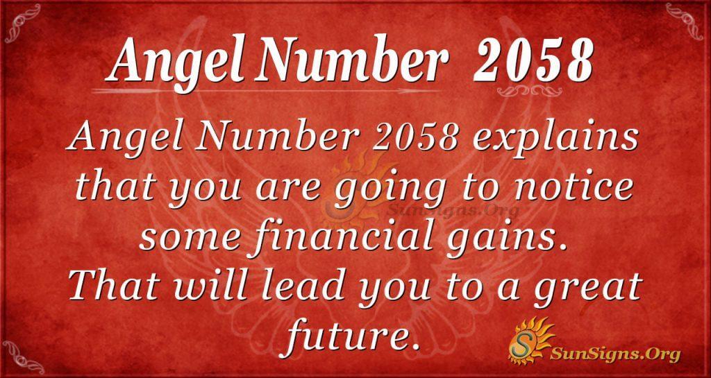 Angel Number 2058