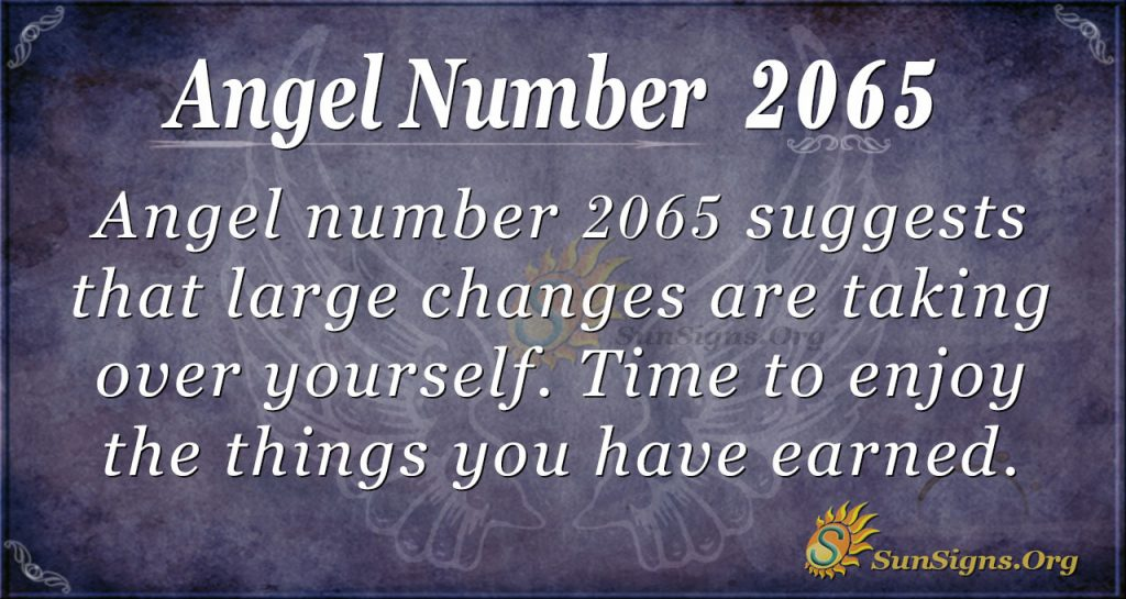 Angel Number 2065