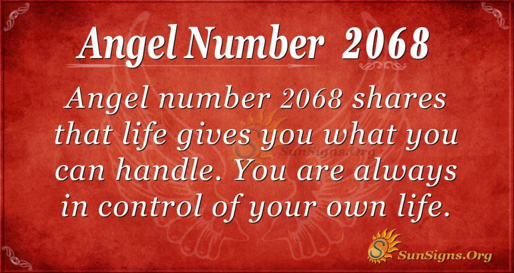 Angel Number 2068