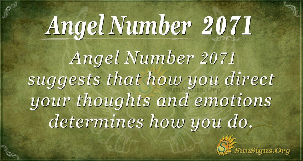 Angel Number 2071