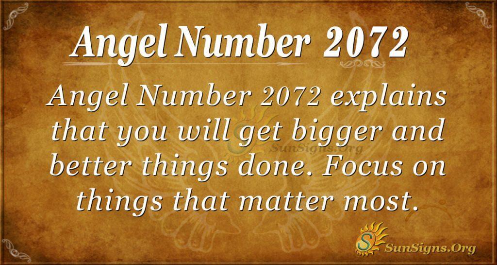 Angel Number 2072
