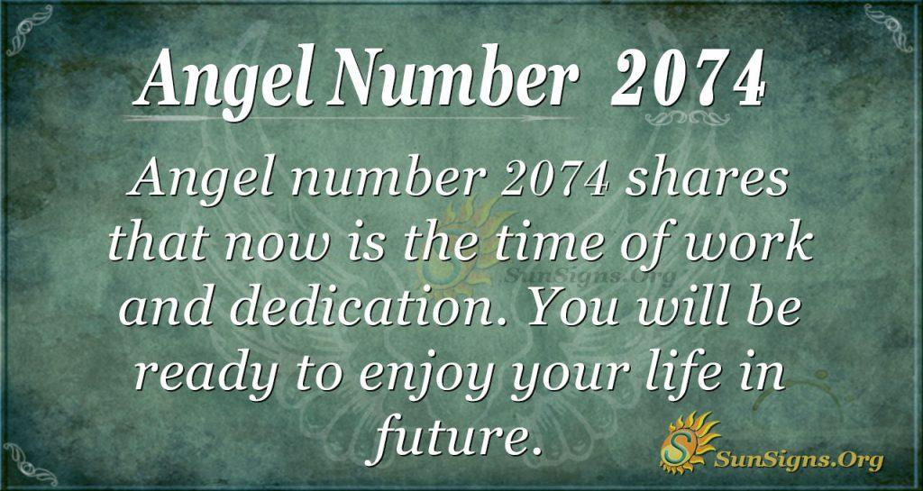 Angel Number 2074
