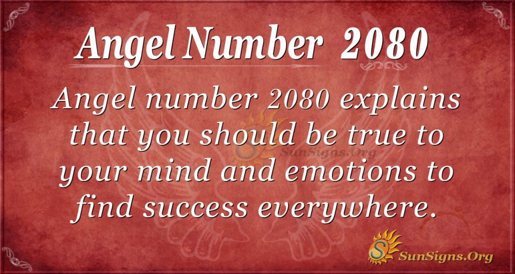 Angel Number 2080