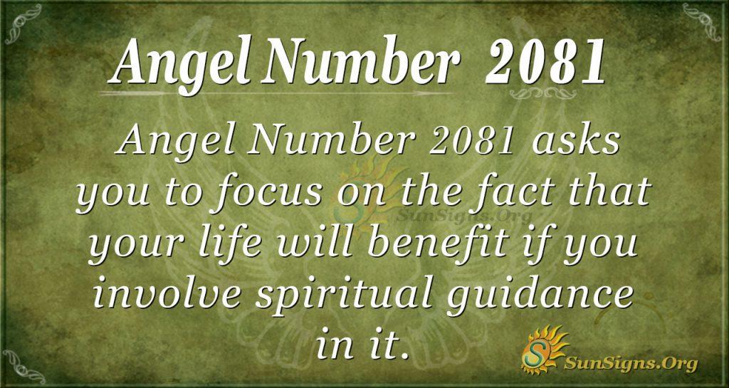 Angel Number 2081