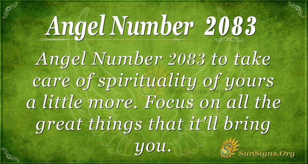 Angel Number 2083