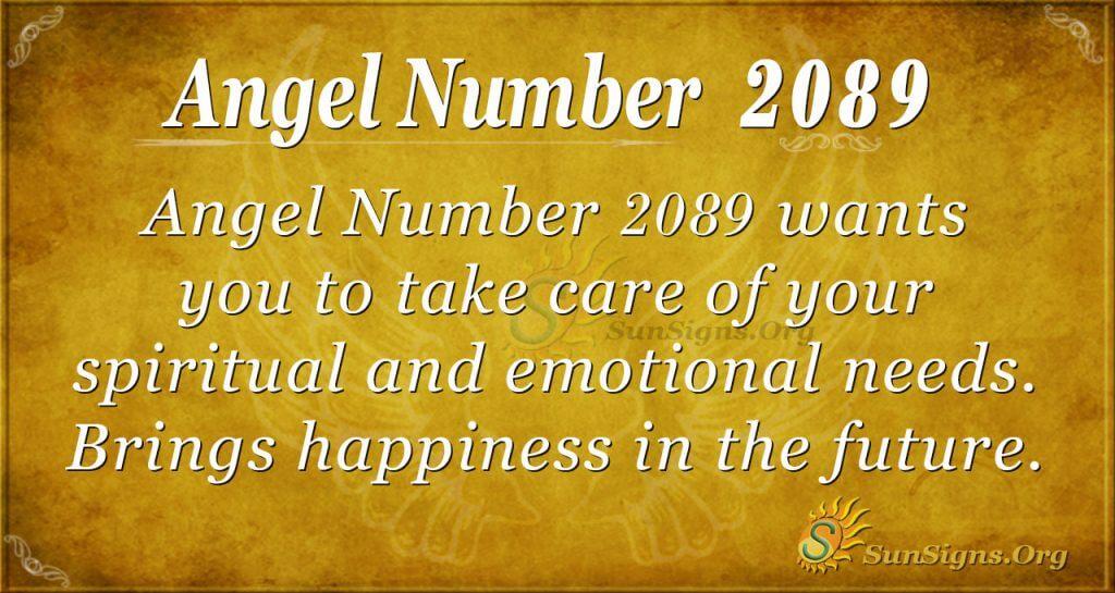 Angel Number 2089