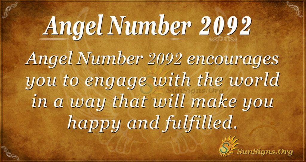 Angel Number 2092