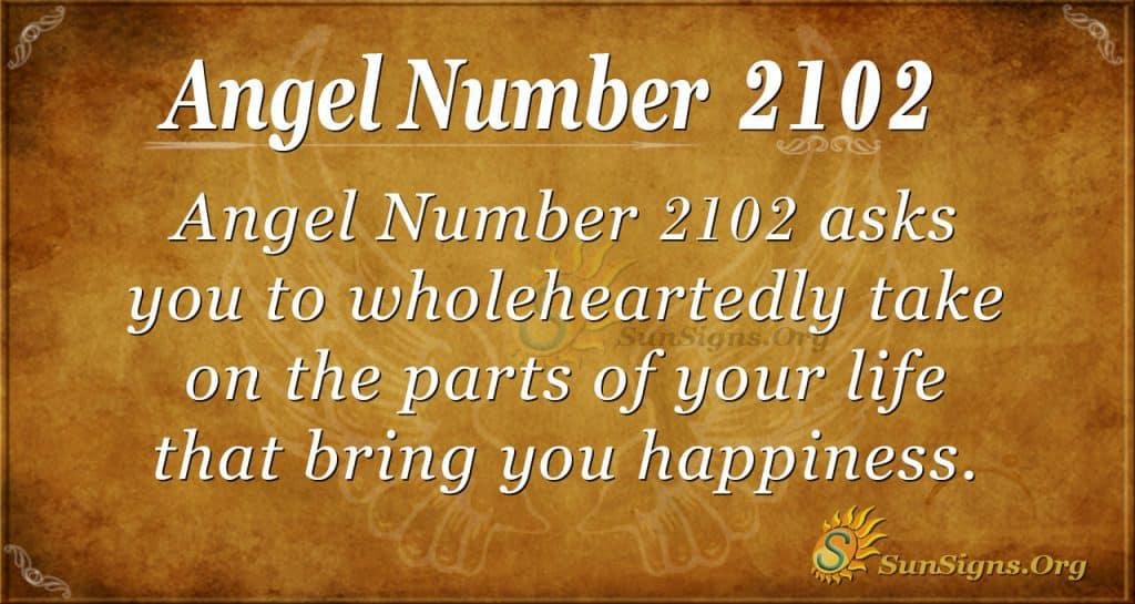 Angel number 2102