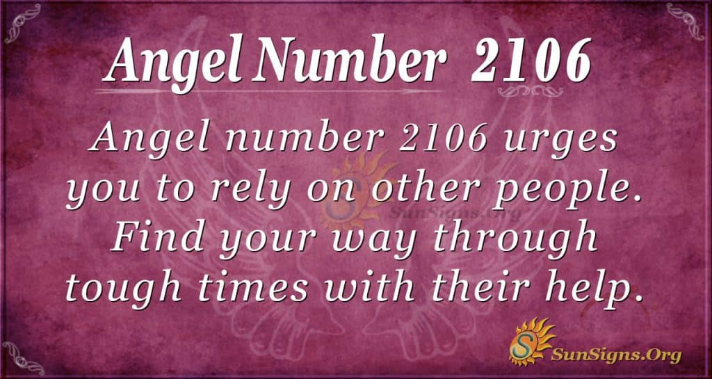 Angel number 2106