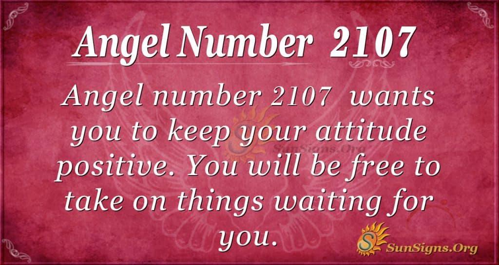 Angel Number 2107