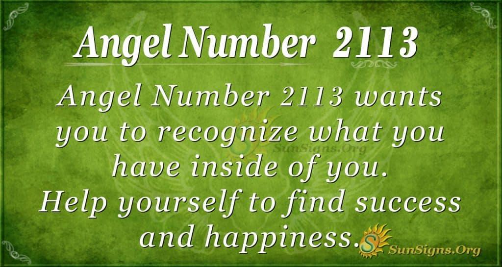 Angel Number 2113