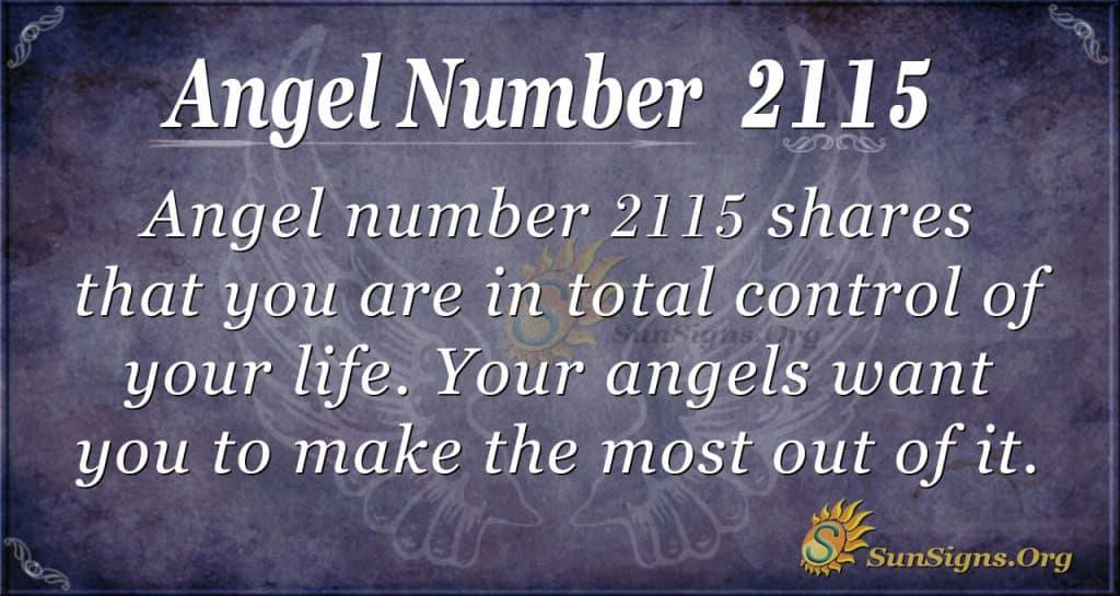 Angel Number 2115