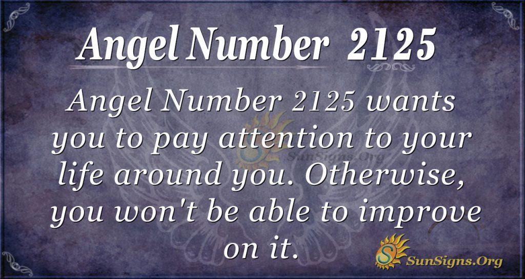 Angel Number 2125