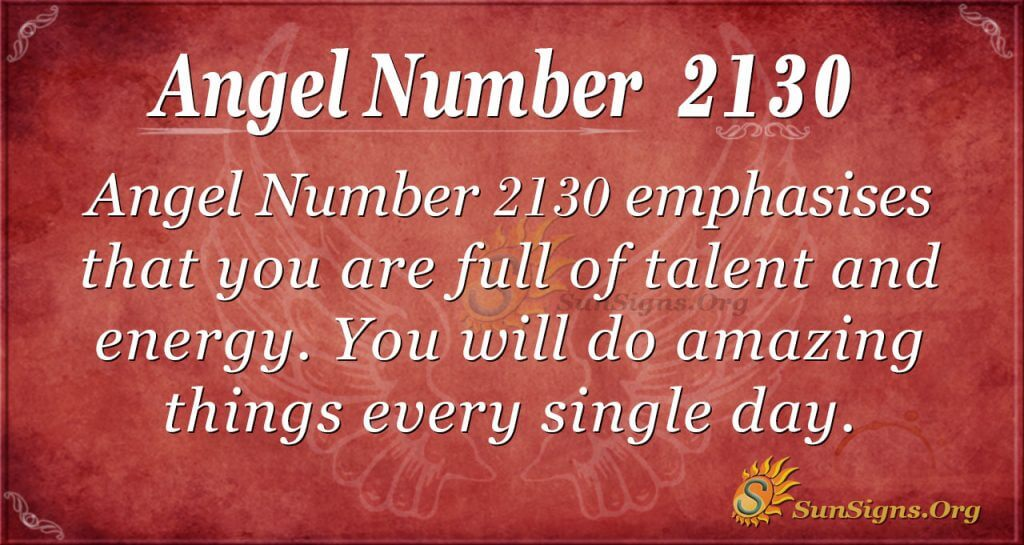 Angel Number 2130