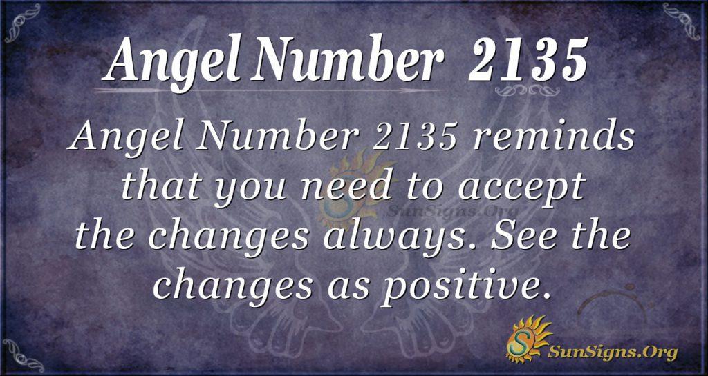 Angel Number 2135