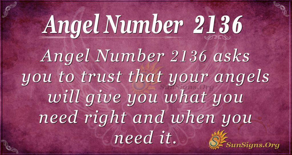 Angel number 2136