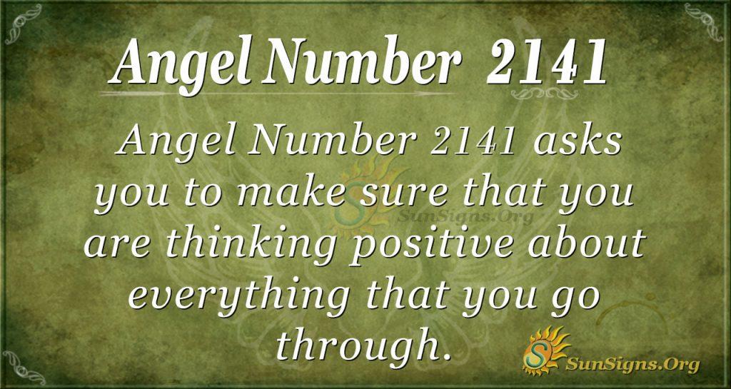 Angel Number 2141