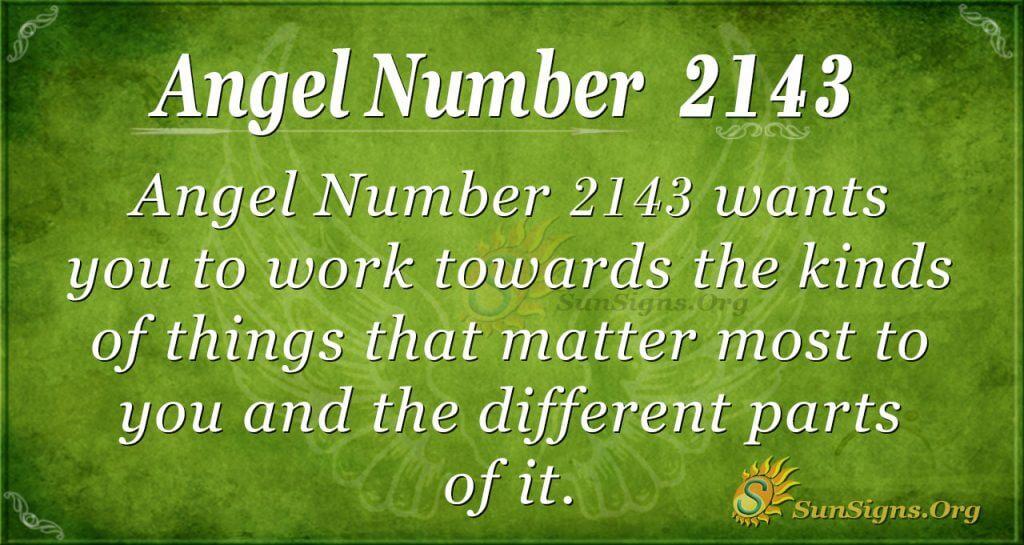 Angel Number 2143