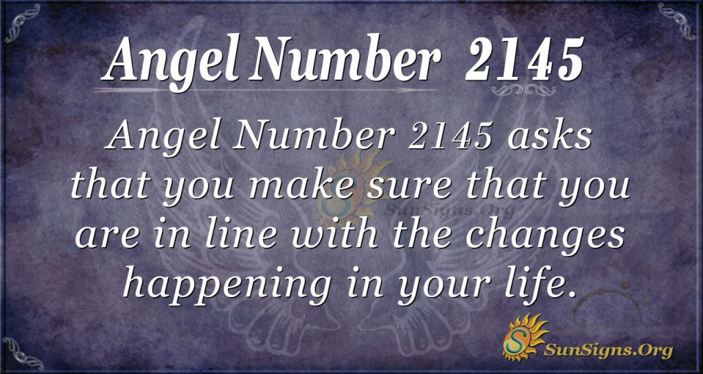 Angel Number 2145