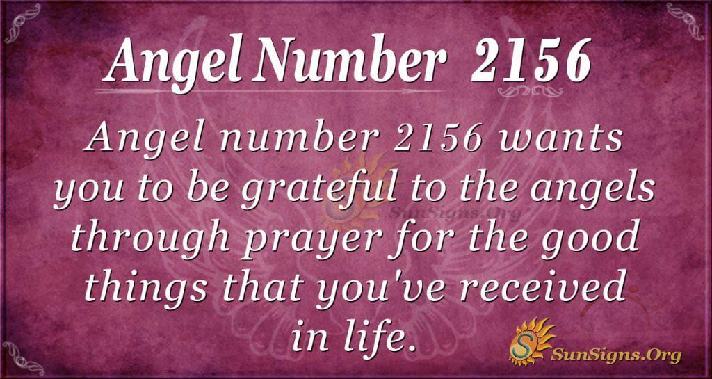 Angel Number 2156
