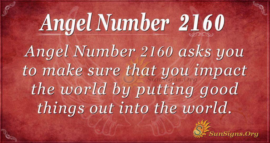 Angel Number 2160