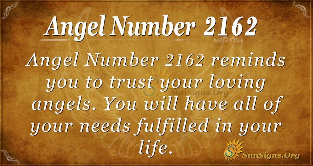 Angel Number 2162
