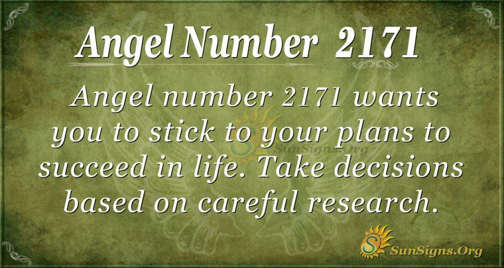 Angel Number 2171