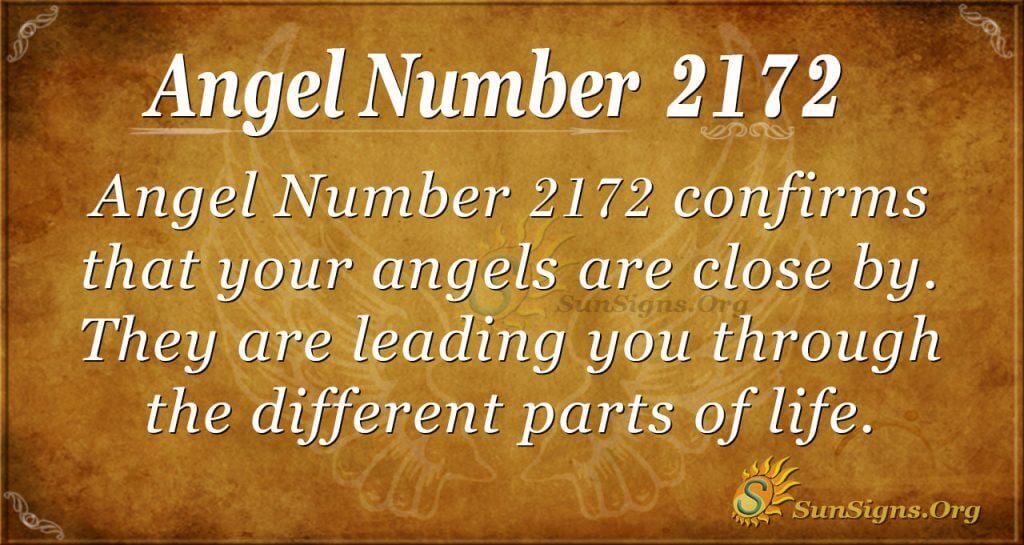 Angel Number 2172