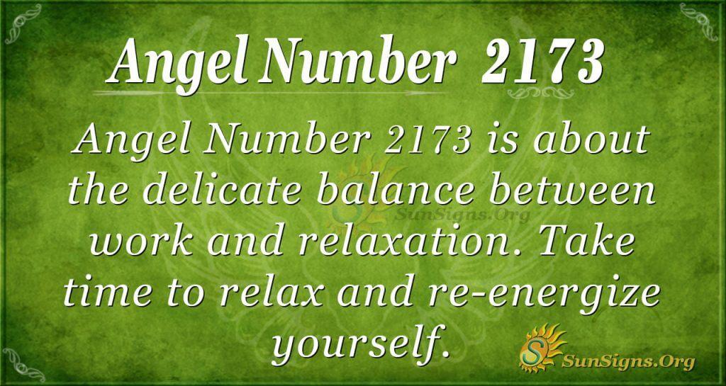 Angel Number 2173