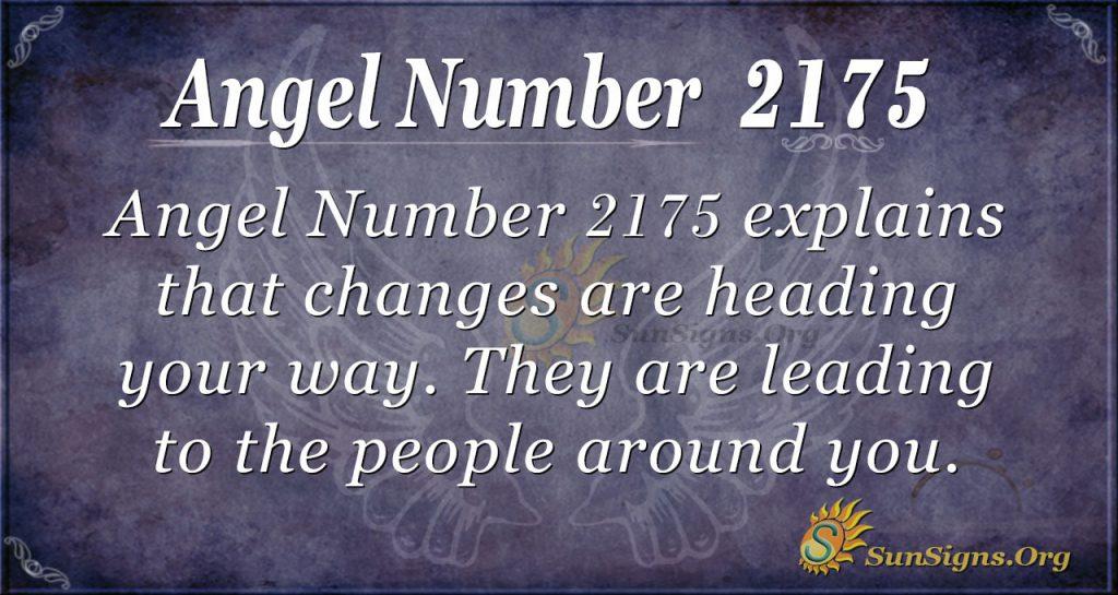Angel Number 2175