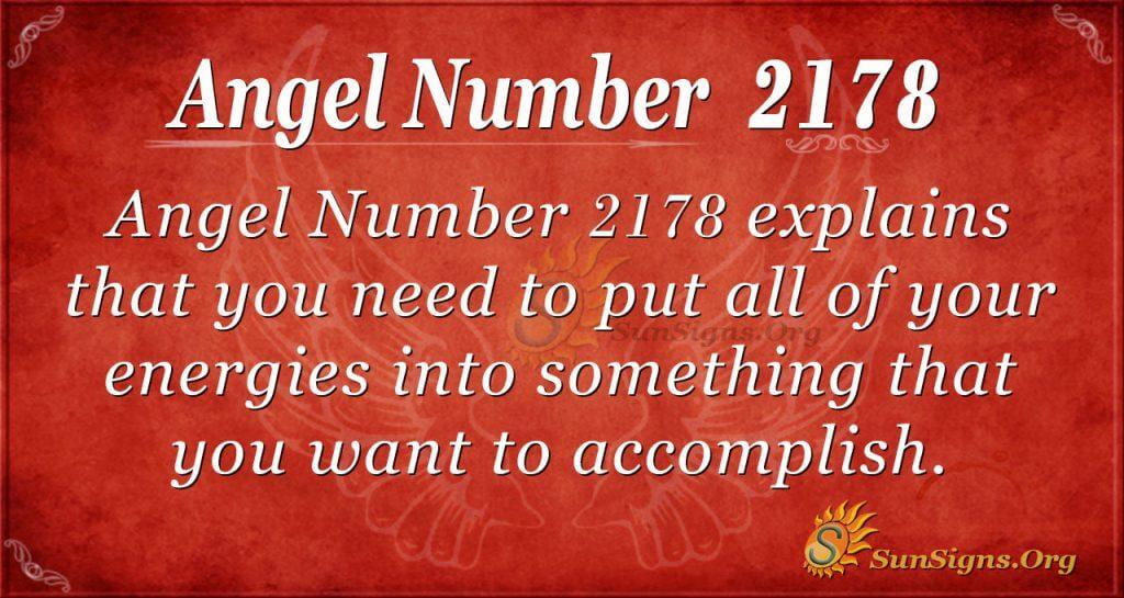 Angel Number 2178
