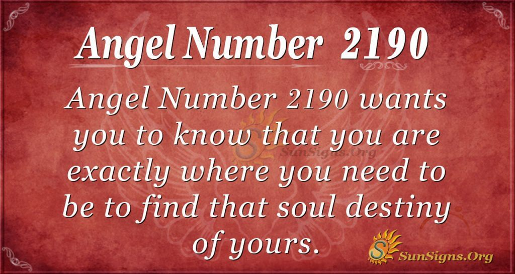 Angel Number 2190